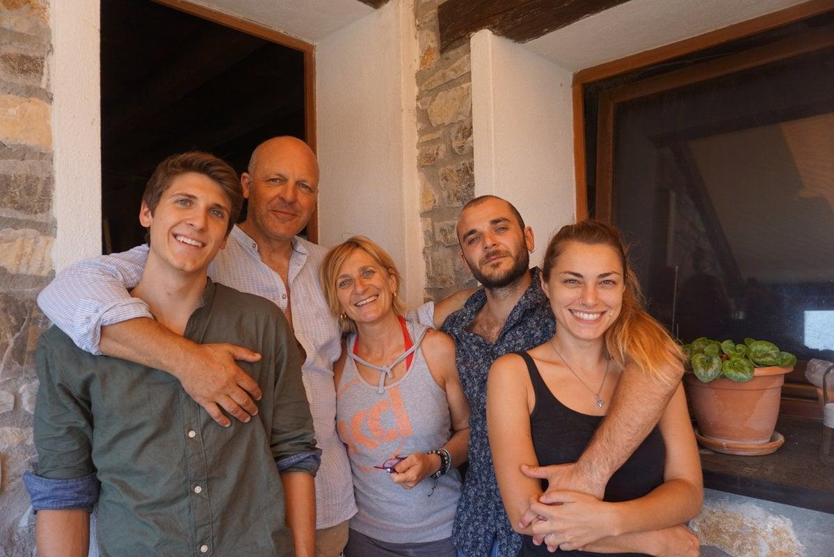 Famiglia di agricoltori biologici di San Martino